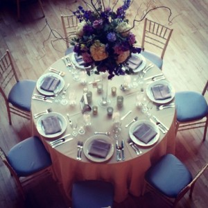 Wedding Guest Table at Cafe Brauer