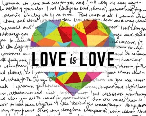 Love is love with Writing on it